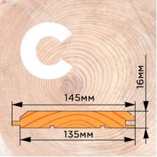 Имитация бруса сорт C 16 на 135